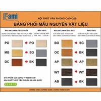 Bảng phối màu gỗ chuẩn Fami