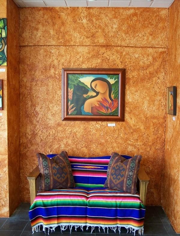 trang trí sofa theo phong cách mexico